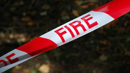 The caravan fire is believed to have been caused deliberately