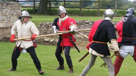 Combat skills will be demonstrated by members of Buckingham's Retinue