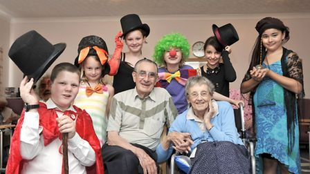 Playright summer school Youth theatre company put on a production for residents at Heron House, Marc