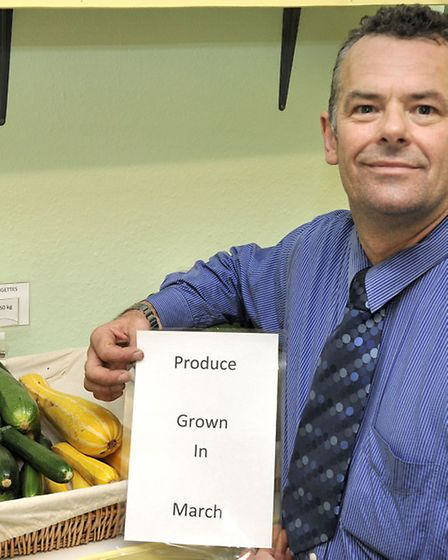 S & G Veg and Brew shop, March. Gary Tickner is also selling local produce.