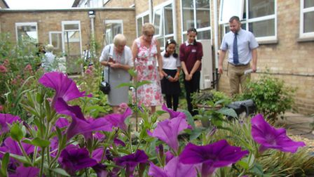 Anglia in Bloom: Judges look at floral displays at Sir Harry Smith Community College