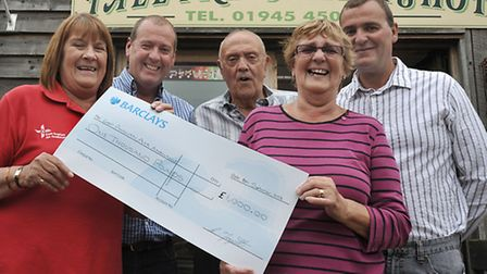 A cheque presentation was held at Tall Trees Leisure Park Guyhirn following a fund-raising event on