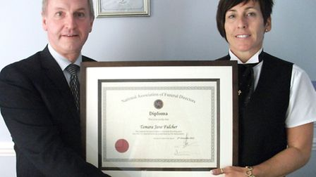 Tamara Fulcher has passed the National Association of Funeral Directors'