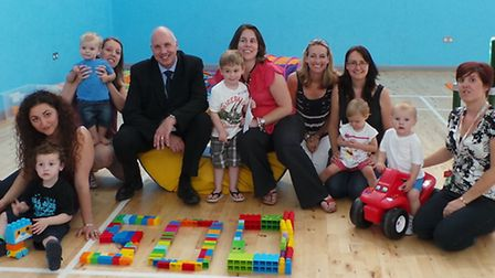 Stansted Airport's Compliance and Assurance Manager, Brian Edwards, visited the nursery to hand over