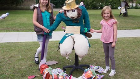 Some of the entrants in this year's Little Downham Scarecrow Festival