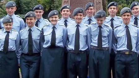 272 Squadron cadets at the service.