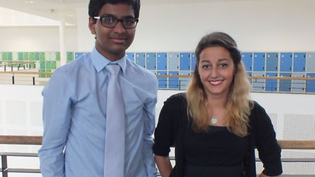 Akshay Kishor and Elizabeth Baker who have been appointed head boy and head girl at Thomas Clarkson