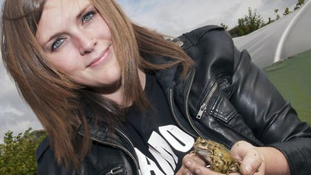 Whittlesey frog-lover Ashlea Jarvis in YOPEY final.