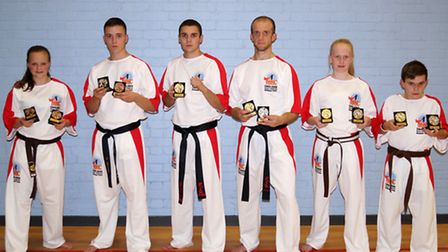 BCKA kickboxing club members that are fighting in the WKC World Championships. Left: Charlotte Camer