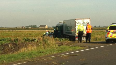 The incident happened on the A141 High Fen Straight Drove nr Warboys