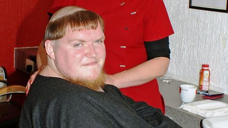 A monk style head shave for charity