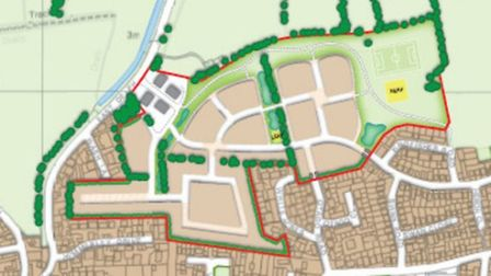 The proposed layout of the 249 home site.