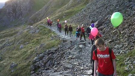 Sara Hibbins was joined by family and friends on the charity trek.