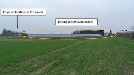 The existing solar panels at the farm.