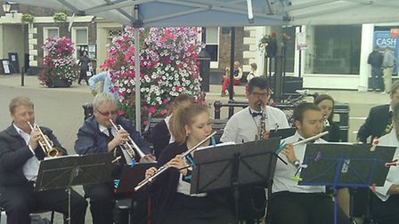 Whittlesey Wind Ensemble played in Wisbech this summer
