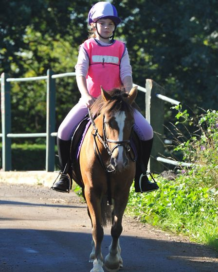 Benwick's charity horse ride. Picture: ROB MORRIS