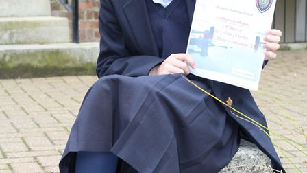 Catherine Missin wins the Wisbech Grammar writing competition