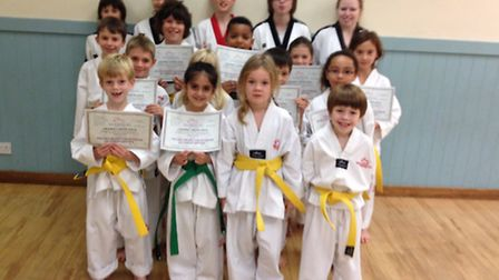 Some of the Ely pupils who passed thier belt gradings