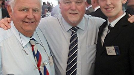 March Town Cricket Club members at Lords. Former March Town Cricket Club President Mel Pooley and J