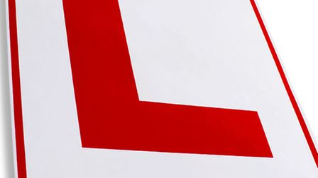 Close up of a learner drivers sign