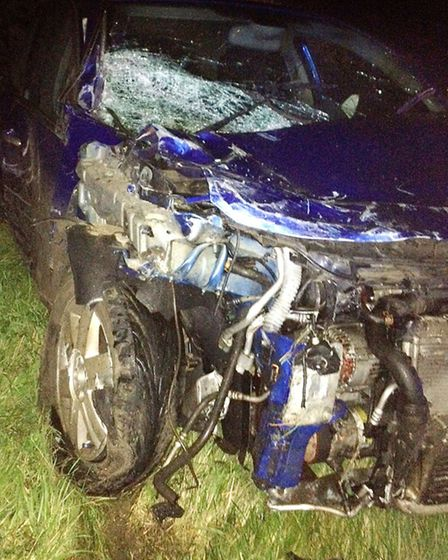 The A10 remained closed for several hours while the damaged cars were recovered