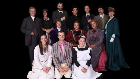 Zara Minn, front row far right, with the rest of the cast from When We Are Married. PICTURE: D STUAR