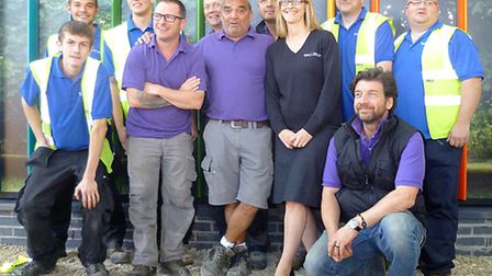 Bloom & Wake - BBC DIY SOS Project. Some of Bloom and Wake's team with members of the DIY SOS team.
