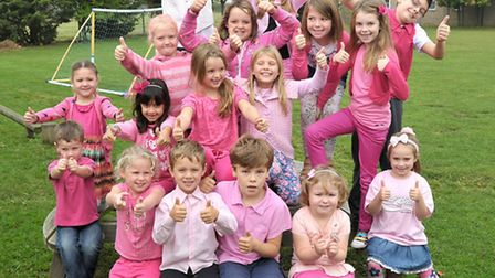 Think Pink Charity Day at Mepal & Witcham Primary School.