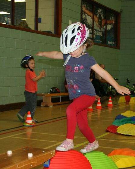 Youngsters improve their agility.
