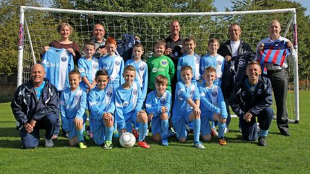 March Rangers under-11s kit presentation. Picture: BARRY GIDDINGS