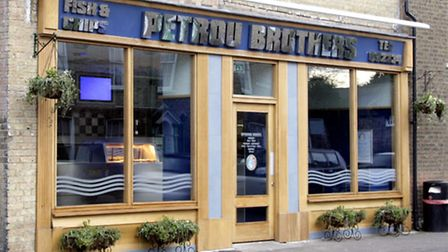 Petrou Brothers shop in Chatteris