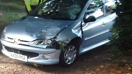 Lakenheath: a woman escaped with minor injuries after a tree fell on the car in which she was a pass