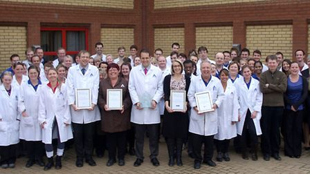 ALS Food and Pharmaceutical team with their Fenland Business Awards.