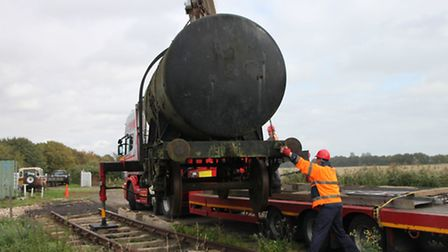 Tank wagon arrives at the Bramley Line