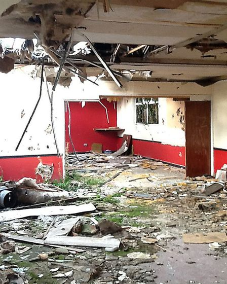 Inside former Fenmen ground in Lerowe Road, Wisbech. Cllr Dave Patrick has raised residents;' concer