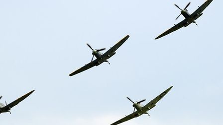 Flying spectacle at Duxford