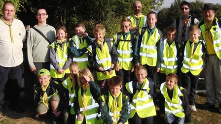 Cub scouts hiked from March to Wisbech.