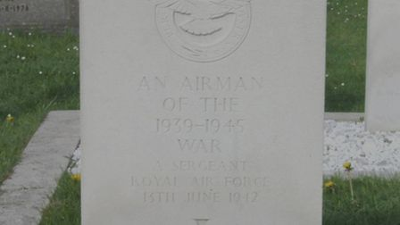 A grave which is thought to belong to Sgt Burrows.