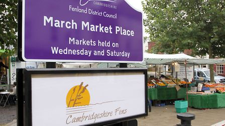 New sign at March Market place.