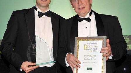Ely Standard Business Awards 2013. Business Person of the Year. Presented by Mark Peck director of C