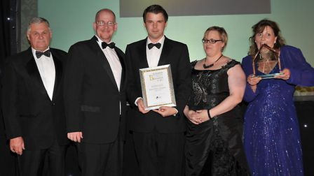 Ely Standard Business Awards 2013. Judges Award, Jigsaw Dance Company. Presented by Peter Watts lead