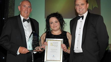 Ely Standard Business Awards 2013. Small Business of the Year, PA Answer. Presented by Harvey Bibby