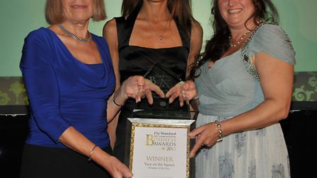 Ely Standard Business Awards 2013. Retailer of the Year, Yarn on the Square, Presented by Beverly Di