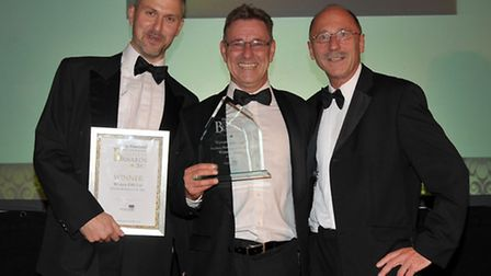 Ely Standard Business Awards 2013. Medium Business of the Year Wyvern DM Ltd. Presented by Michael J