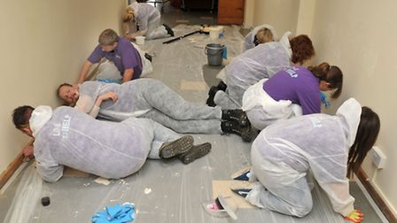 Anglian Water volunteers refurbish the Queen Mary centre, Wisbech for the Ferry project.
