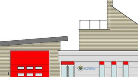 The proposed fire station which could be built in Burwell
