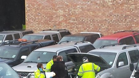 Trading Standards Officers carry out inspections at two car companies.