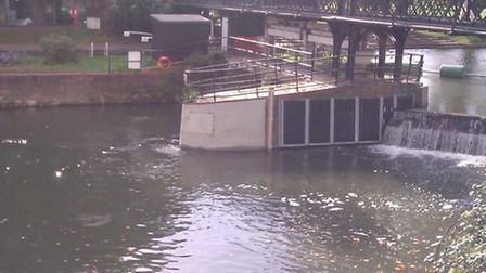 The new eel pass on the River Cam.