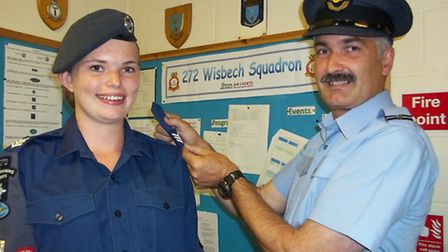 Following on from the recent promotions at 272 (Wisbech) Squadron Cadet Corporal Kirsty Alderson has