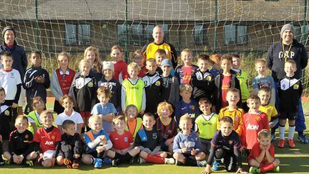 March Hares Junior football group.